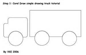 basic shape semi truck outline - Bing images