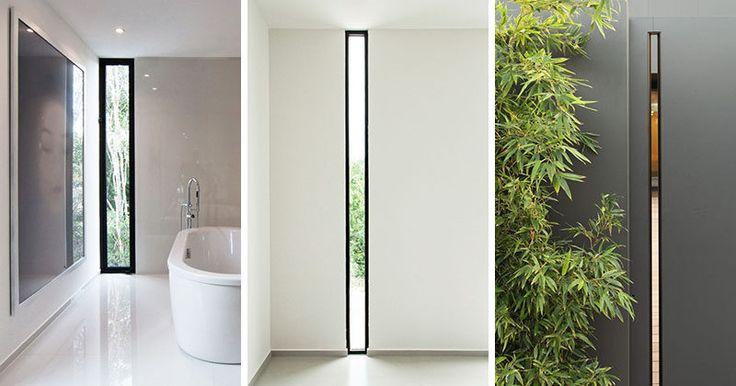 Window Style Ideas Narrow Vertical Windows Fachadas De