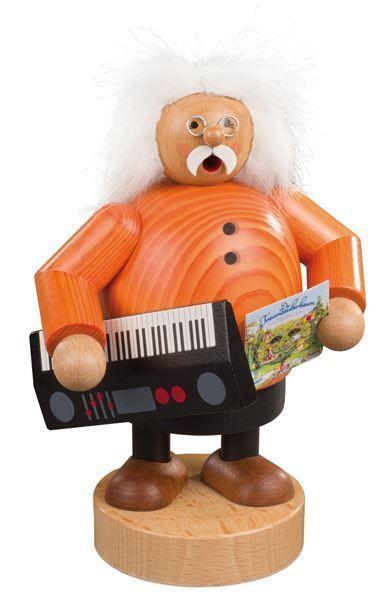 KWO Reinhard Lakomy Keyboard Musician German Wood Christmas Incense Smoker #KWO