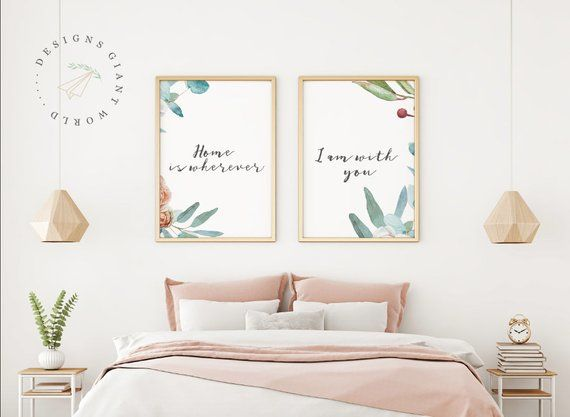 Home Is Wherever Im With You Printable Bedroom Printable Wall Printable Wall Art Bedroom Bedroom Art Above Bed Bedroom Prints