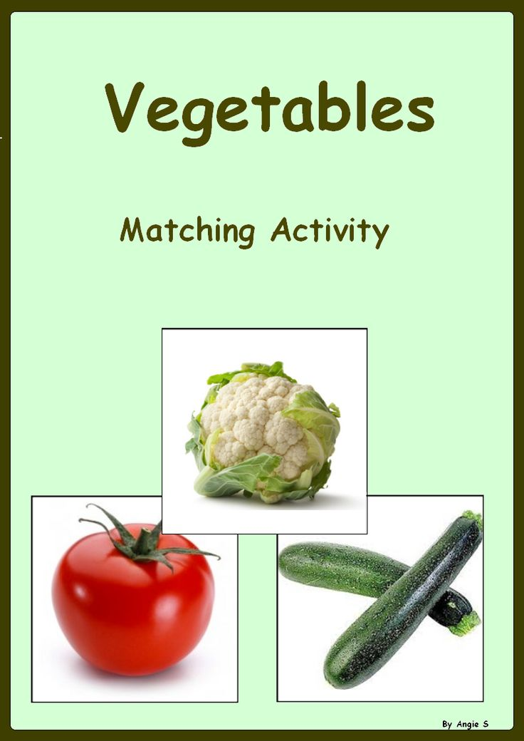 Vegetables Matching Activity