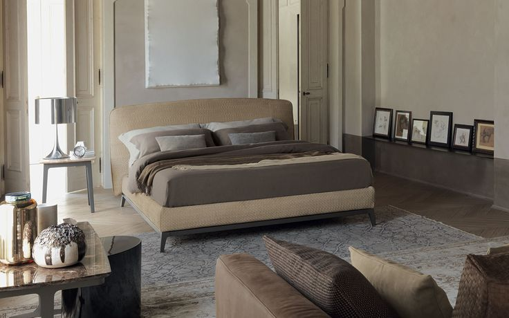 Double bed Olivier Woven leather Flou