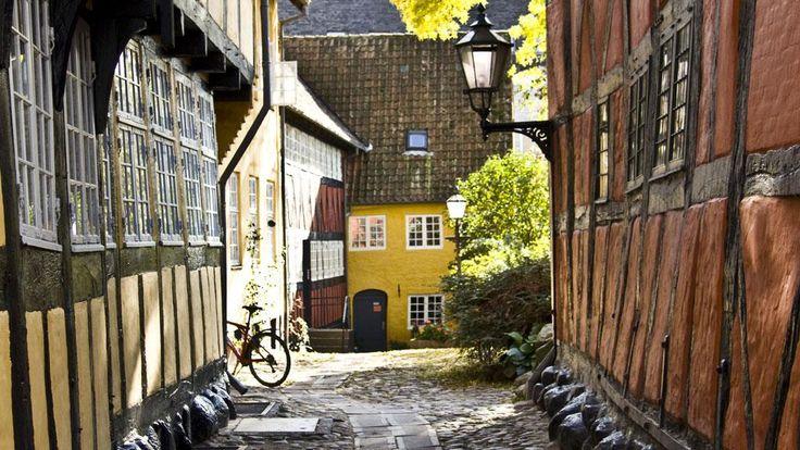 Gammel gade i Kolding Midtby  Street in central Kolding DK