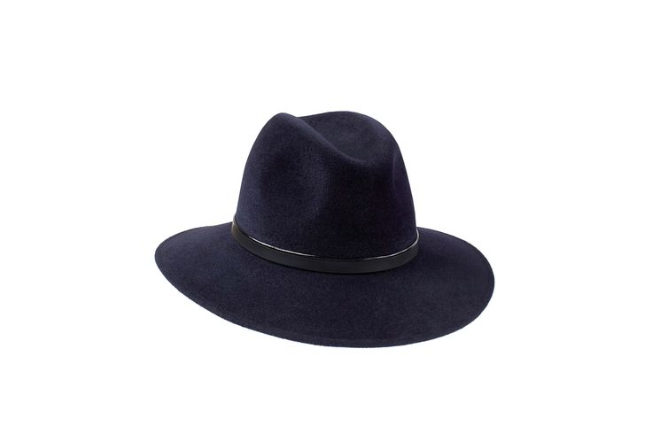 The Spring/Summer Collection | Willow Fedora | Midnight Blue | Patent & Black Leather Band www.penmayne.com #fedora #hats #accessories
