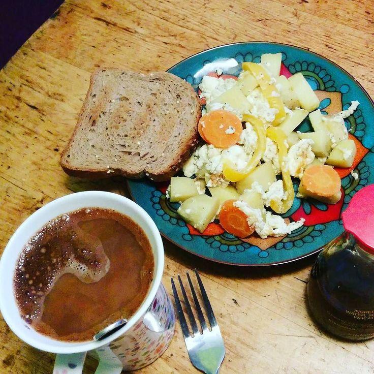 Без вдохновения позавтракала :( слишком рано вставать #30breakfasts #30завтраков