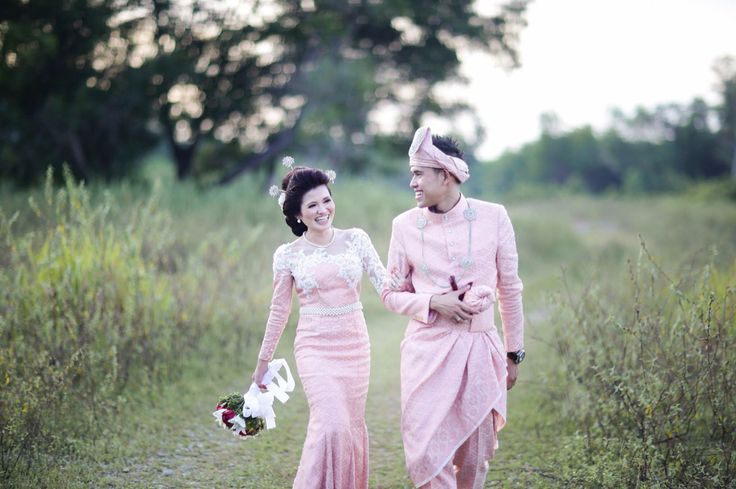 My songket wedding dress