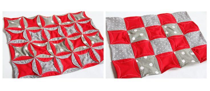 Patchworkové vánoční prostírání / Christmass patchwork  placcemats: http://www.prosikulky.cz/fotonavod-vanocni-prostirani-kruhovy-patchwork/