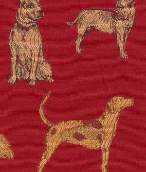 Robert Allen Robert Allen Dog Day Crimson Fabric - $100.25 | onlinefabricstore.net