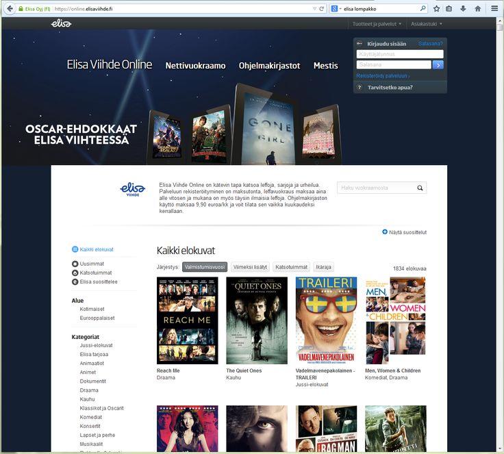 UX design example: Elisa Viihde without set-top box - Web UI main