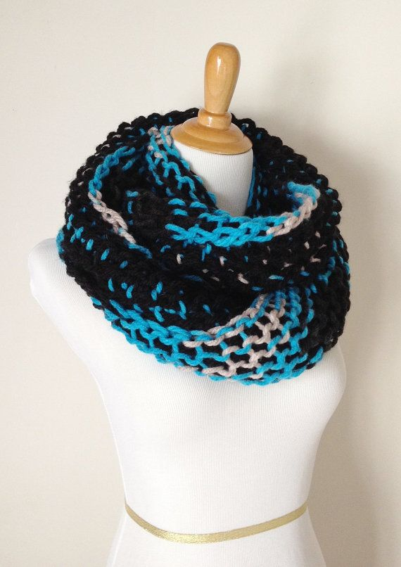 Carolina Panthers Scarf by GoldCreekDesigns on Etsy