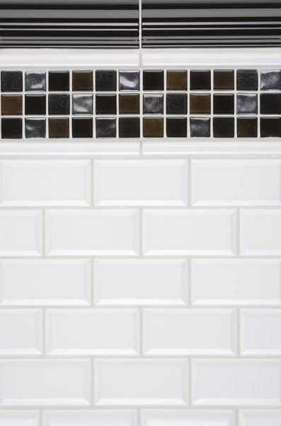 Beveled Subway Tile Use Different Contrast Color Building Ideas