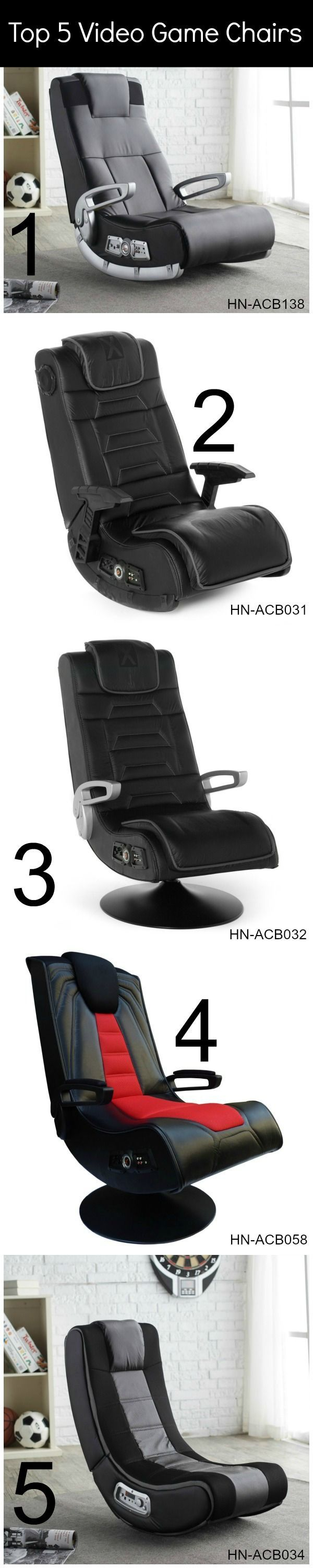 Top 5 video game chairs. Perfect gift!