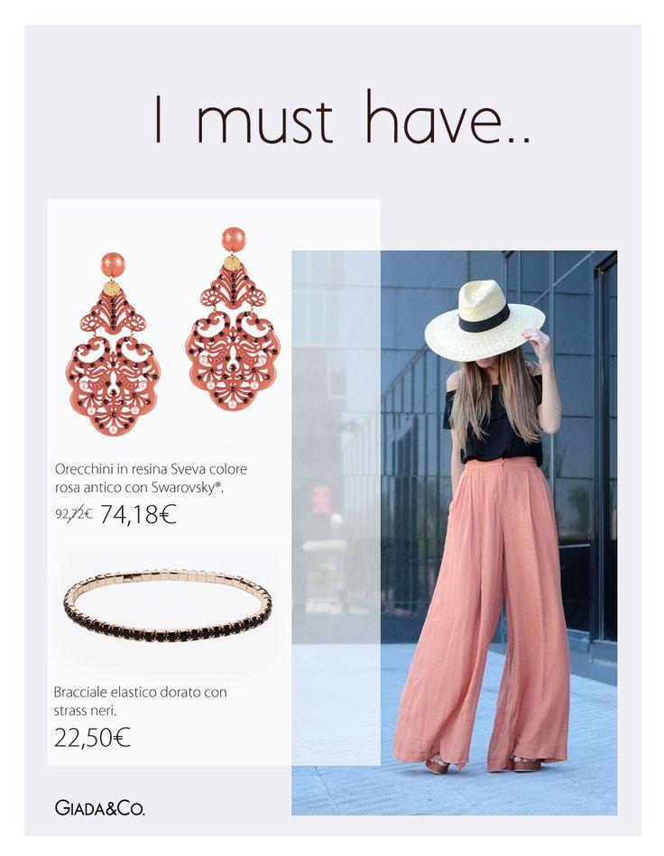 I MUST HAVE.. #MUST #thebestoutfit #Pepitosa #earrings #bracelets  #Giada&Co. http://www.giadaandco.com/designer-collection/pepitosa/orecchini-sveva-rosa-antico-swarovsky http://www.giadaandco.com/bracciali/bracciale-dorato-strass-neri