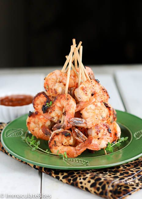 The ULTIMATE grilled Coconut Shrimp- seasoned with garlic, coconut milk, thyme. Quick and easy - really tasty!