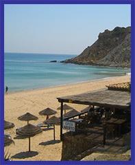 The beach bar in Burgau, I love it!! Portugal