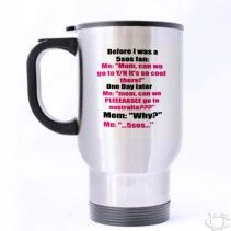 5 Seconds Of Summer Lyrics Quotes Funny Travel Mug