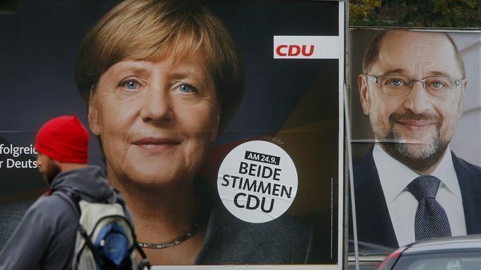 La chancelière Angela Merkel (CDU), candidate à un quatrième mandat, est donnée favorite face à son challenger Martin Schulz (SPD). La droite radicale..