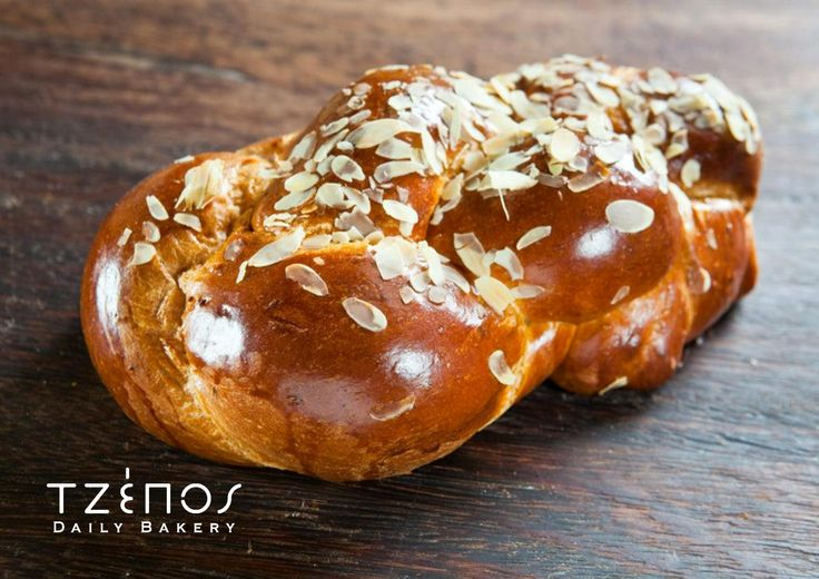 Tsoureki - a sweet kind of soft bread worked with yeast, flavoured with Chios mastic, orange, eggs, milk and vanilla essence