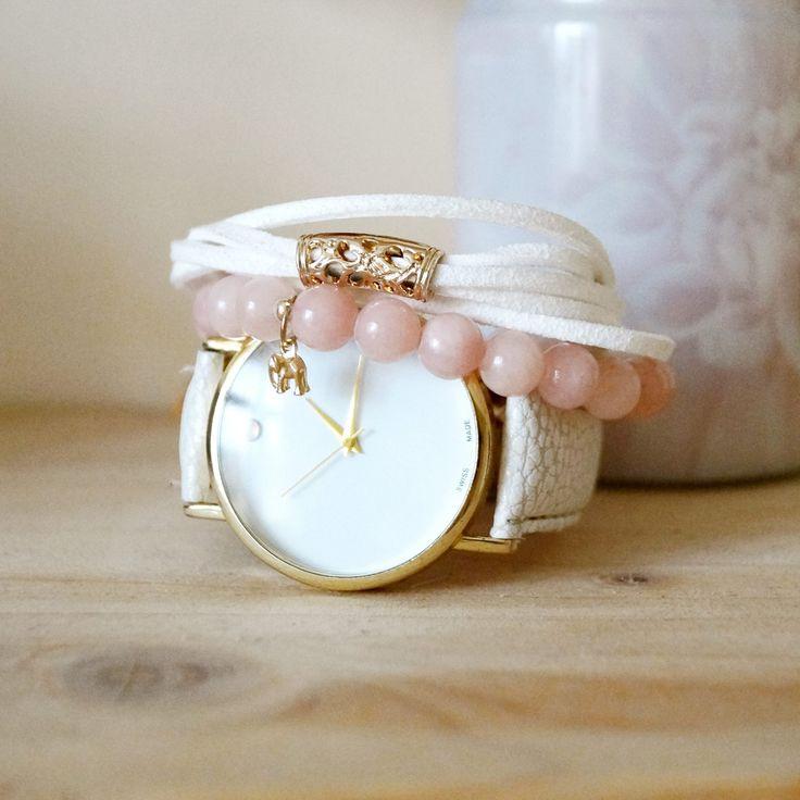 Zestaw bransoletek na dziś! :) #bracelets #handmade #watch #fashion #blogger #pastels