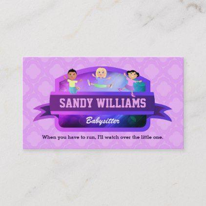 Babysitter Children Business Cards Random Productz Pinterest
