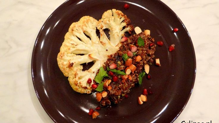 Bloemkoolsteaks met quinoa