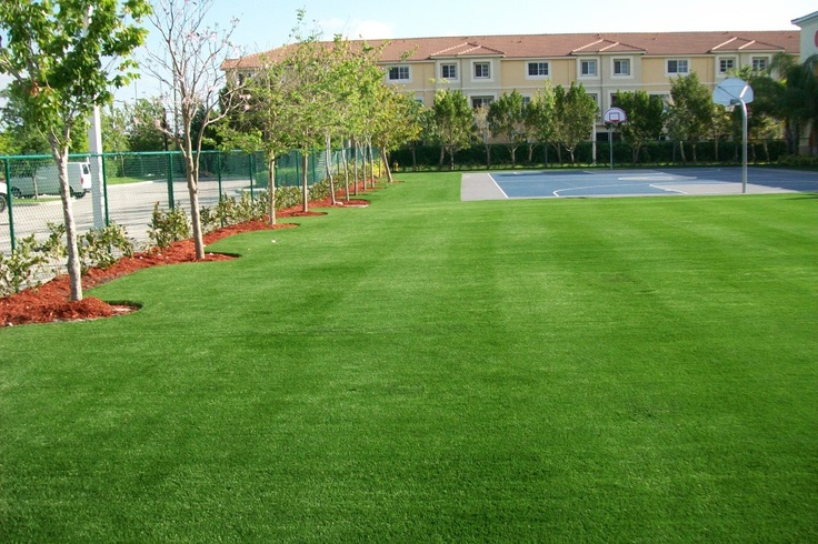 Install Basketball Court In Backyard : Pin by EasyTurf on EasyTurf High Profile Installations  Pinterest