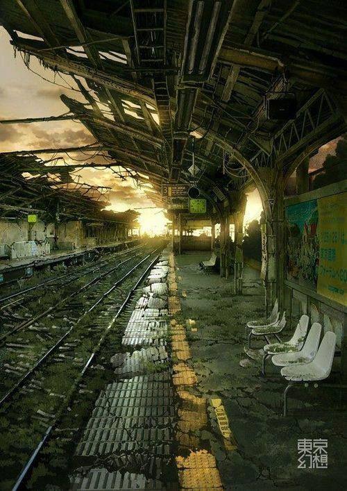 une gare, quelque part, au Japon