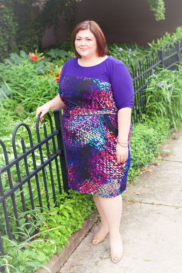 Emmie in the IGIGI Sapphira Dress from #plussize #igigi #igigistyle