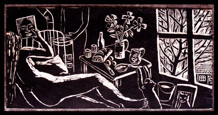 Intimitate.2.xilogravura1999.placa gravata