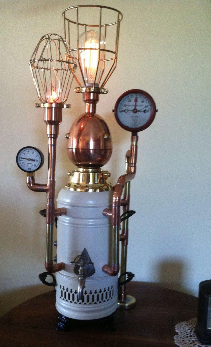 Steampunk Samovar Lamp by jimdavidson3.deviantart.com on @DeviantArt