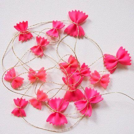 guirnalda garland DIY fun kids niños original, sencilla barata easy&cheap  pink