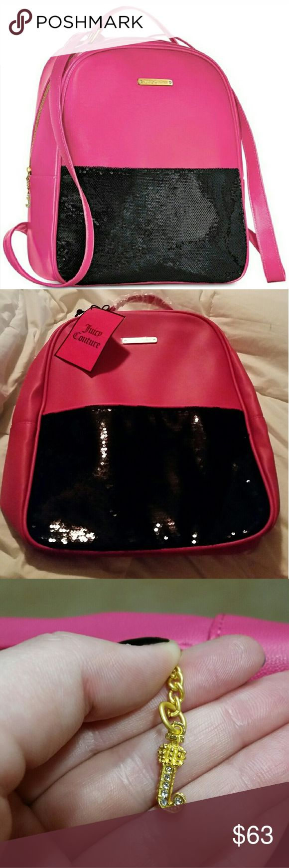 Juicy couture pink and black backpack Never used! Tags still attached! Juicy Couture Bags Backpacks
