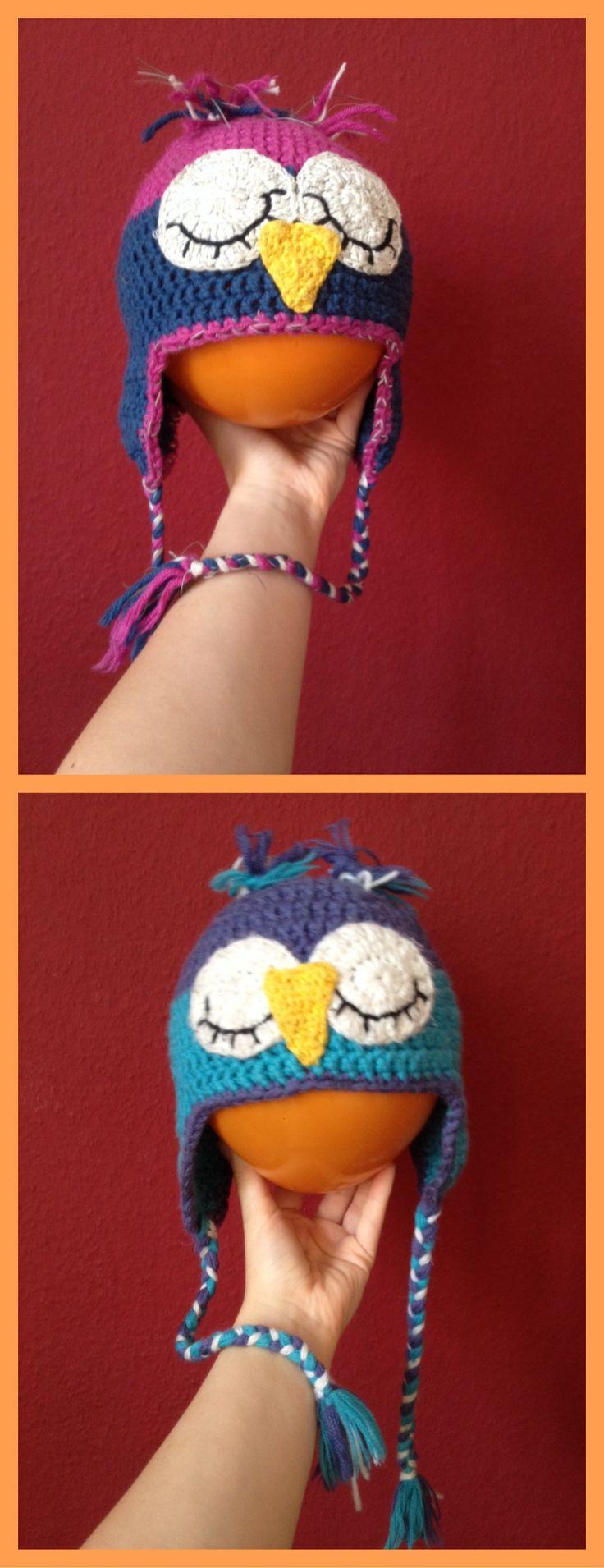 Wintertime, owl time. Added reflecting yarn. Savety first!  Ebook in link below.
