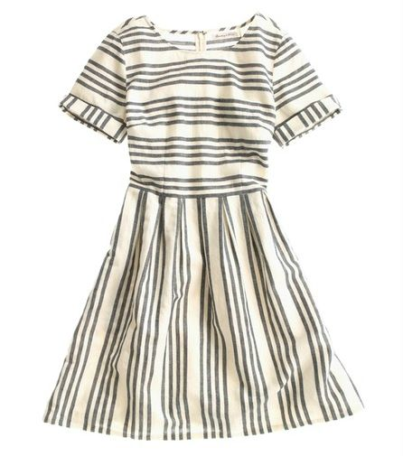 love the sleeve length of this dress and the contrasting direction of the stripes.  great fit at the waist as well.