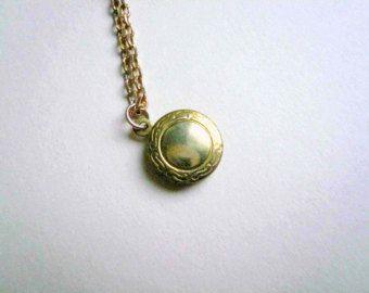 Medallón de oro collar-collar medallón en oro-oro Guardapelo