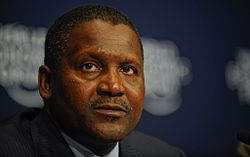 Aliko Dangote the richest black man in the world is someone that Walter would look up to to inspire him that black men can be successful