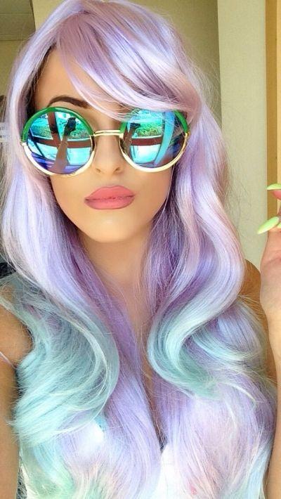 Mermaid: Ombre Dyed Hair, Hair Colors, Mermaid Hair, Inspiration Crazyhair, Silver