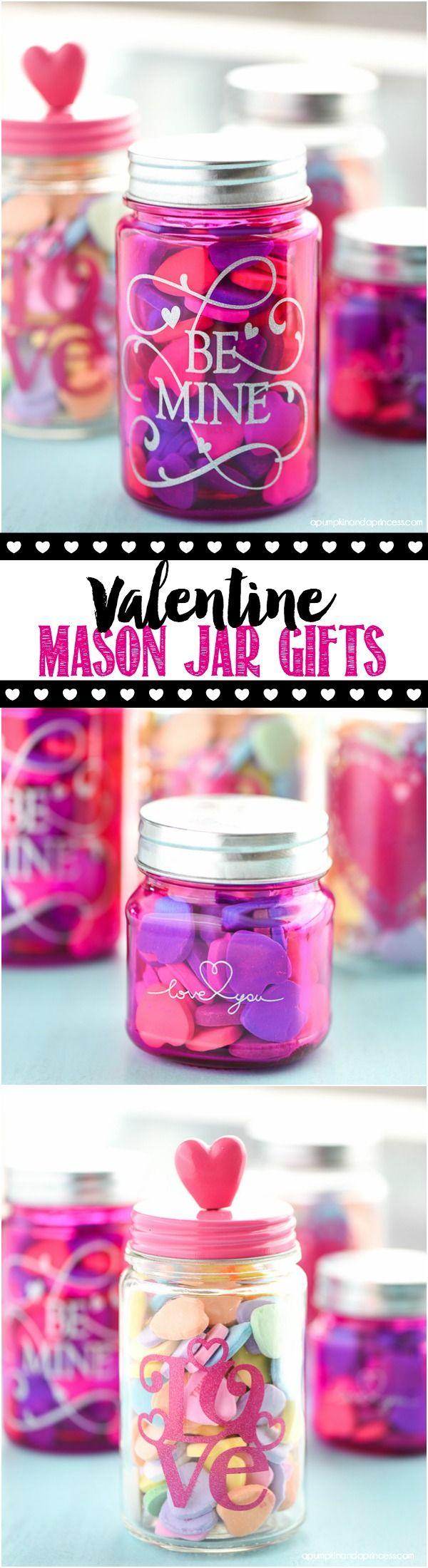 DIY Valentine's Day Mason Jar Gifts