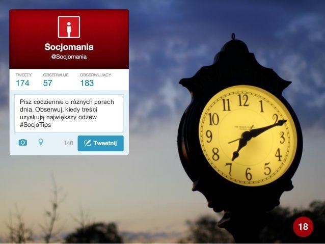 50 Twitter Tips (18). Cała prezentacja: http://www.slideshare.net/Socjomania/50-porad-jak-dziaac-na-twitterze  #Twitter #TwitterTips #SocialMedia #SocialMediaTips