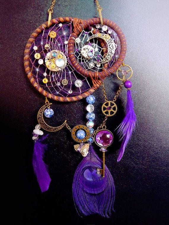 Steampunk dreamcatcher clockwork by CindersJewelryDesign on Etsy
