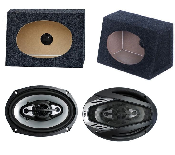 """2) NEW BOSS NX694 6x9"""" 800W Car Audio Speakers + 2) 6x9"""" Speaker Box Enclosures. MAX Power Handling: 800 Watts. Poly Injection Cone Material. Stamped Steel Baskets. Mylar Cone Mids. 2) 3/4"""" Mylar Dome Tweeters."""