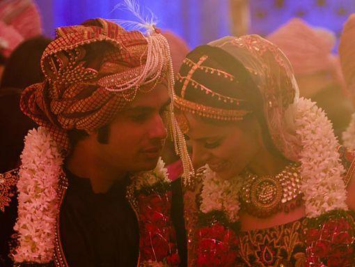 kunal Nayyar and Neha Kapur  Big Bang theory actor and former Miss India !       Aline for Indian weddings