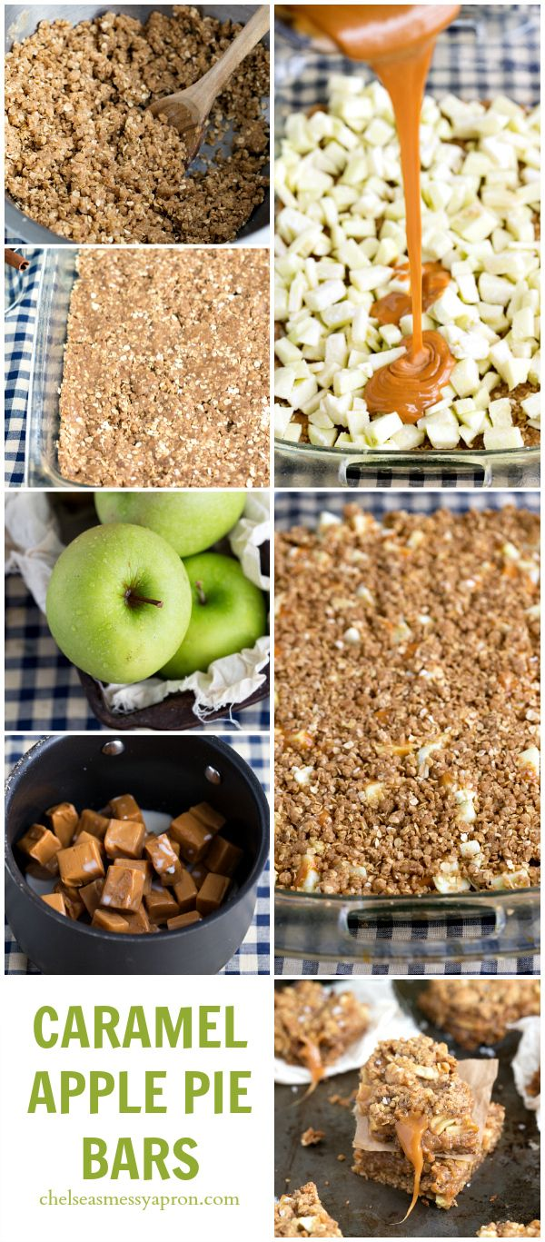 {Browned Butter + Salted Caramel} Apple Pie Bars I #apple #pie #caramel @chelsealords