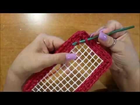 Bauletto all'uncinetto su rete   bolso crochet en la red   crochet bag w...