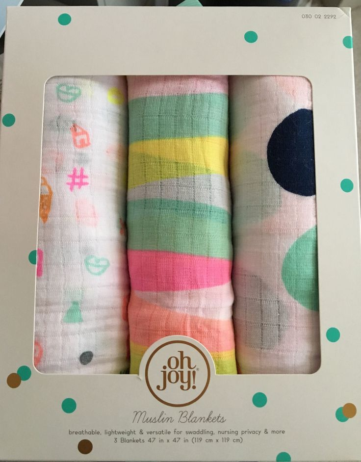 NIB Oh Joy Target Baby Muslin 3 Swaddling Blankets Pack Hard to Find Sold Out in Baby, Nursery Bedding, Blankets & Throws | eBay