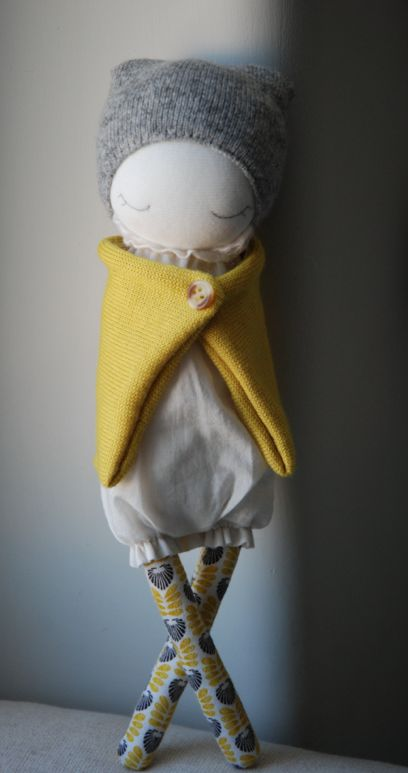 Poupee de laine Lemon - MUC-MUC                                                                                                                                                                                 Plus