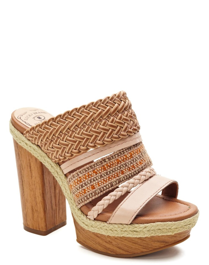 Mika Woven-Leather Heels - New Arrivals - Lucky Brand Jeans