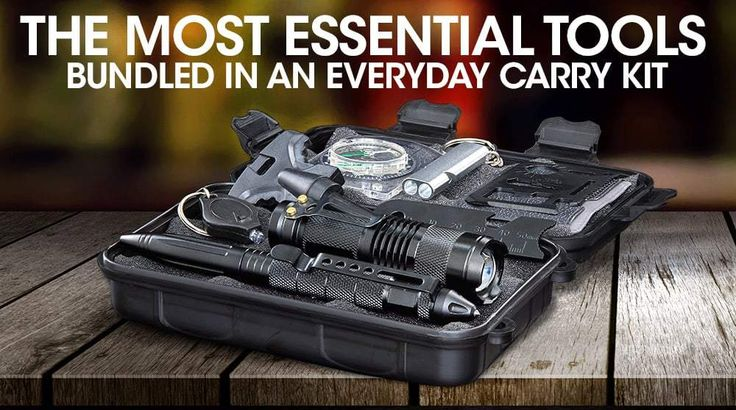 We've packed this kit into a super compact, discreet, ultra-durable, waterproof and easy to carry case that is the size of a small book. Our survival kit is compact enough to throw in your backpack, your car, your office drawer or store in virtually any small handy space that you can access quickly!