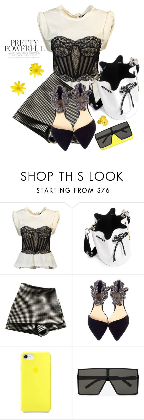 """I've got Sunshine ..."" by sue-mes ❤ liked on Polyvore featuring Alexander Wang, Joshua's, Maje and Yves Saint Laurent"