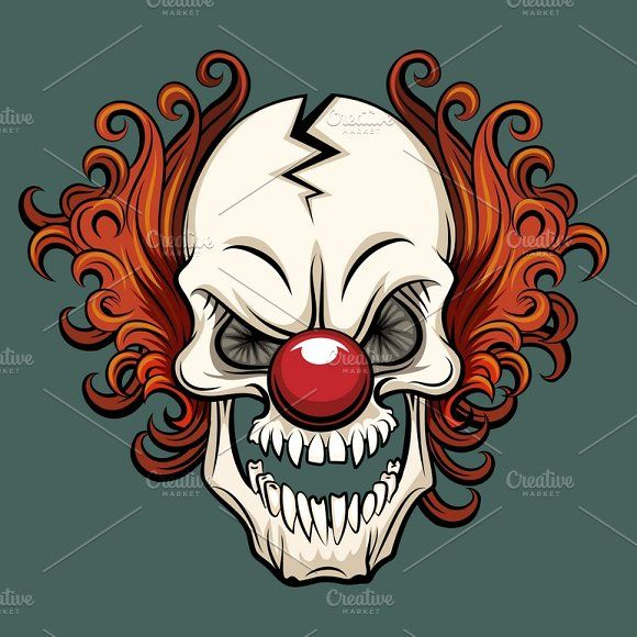 Vector Evil Clown In 2020 Evil Clowns Scary Clowns Clown Illustration